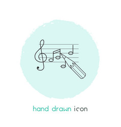 Song writing icon line element vector