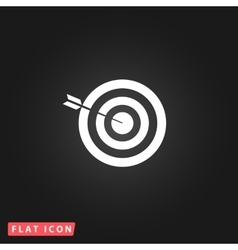 Successful shoot flat icon vector
