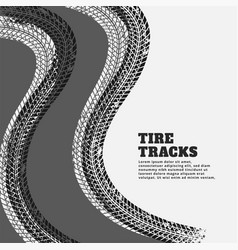 Tire track print marks background vector