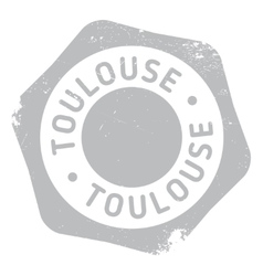 Toulouse stamp rubber grunge vector