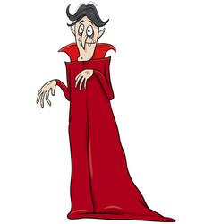 Vampire halloween character cartoon vector