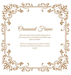 Vintage ornament frame in retro style vector