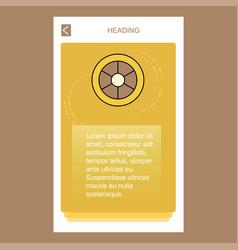 wheel mobile vertical banner design design vector image