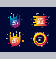 Wow sale special offer price sign vector