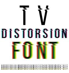 Distortion font vector image
