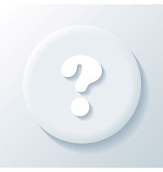 Question 3D Paper Icon vector image vector image
