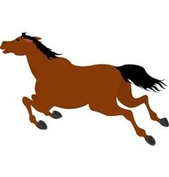 Running bay cartoon horse vector