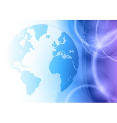 world on the blue background vector image