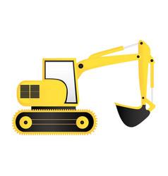 color backhoe loader icon vector image