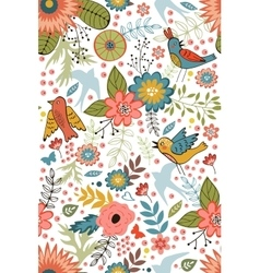 Colorful blooming flowers seamless pattern vector image vector image