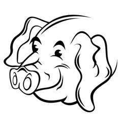 Pig symbol vector image vector image