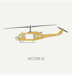 plain flat color icon military turboprop vector image vector image
