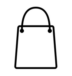 shopping bag pixel perfect thin line icon 48x48 vector image vector image