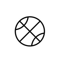 thin line basketball icon vector image