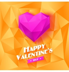 Romantic background for Valentines day vector image vector image