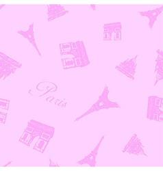 Seamless Paris Textures vector image