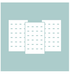 three building the white color icon vector image vector image