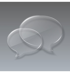 Two Glass bubbles speech on gray background vector image vector image