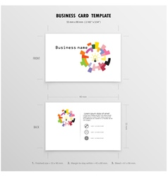 Abstract Creative Business Cards Design Template vector image vector image