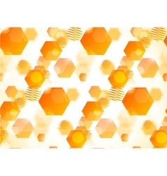 Abstract pattern with hexagons and circles vector image