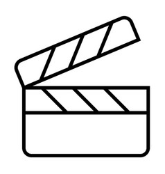 movie clapper board line icon film production vector image
