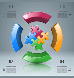 puzzle logo business infographics vector image