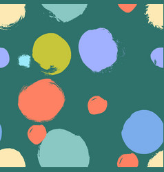 seamless colorful pattern with abstract circles vector image vector image