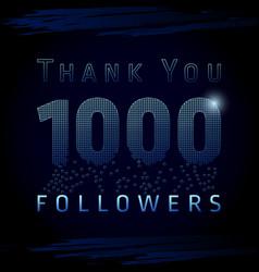 1 000 followers pixels dark vector