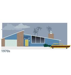 1970s house vector