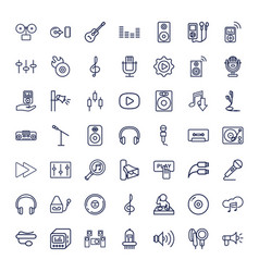 49 audio icons vector