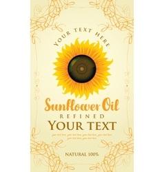 Abel for sunflower oil vector