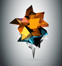 Abstract 3D triangles background vector image