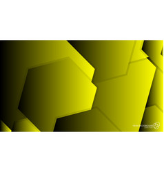 Abstract background hexagon yellow light and vector