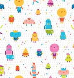 Abstract characters seamless pattern vector image
