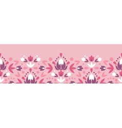 Abstract damask flowers horizontal seamless vector image