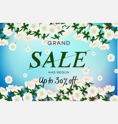 advertisement about spring sale on background vector image
