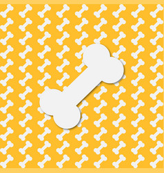background with bones on a yellow background vector image