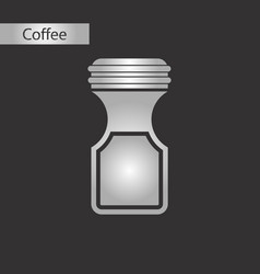 black and white style icon of coffee jar vector image