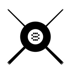 black eight ball symbol vector image