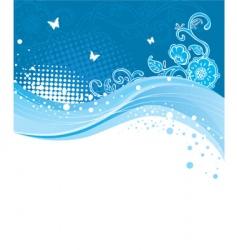 blue curve vector image