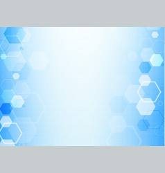 Blue hexagonal molecule structure background for vector