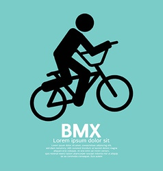 BMX Bicycle Sign vector