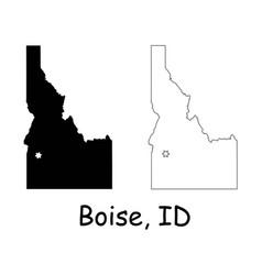 boise idaho id state border usa map vector image