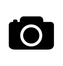 camera icon black flat isolated on white vector image