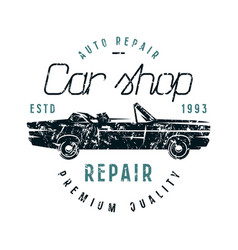 Car repair emblem vector