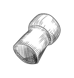 Champagne wine bottle cork cork stoppers isolated vector