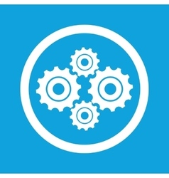 Cogs sign icon vector