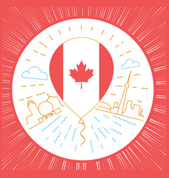 concept of traveling to canada vector image
