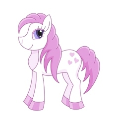 cute horse romantic pony vector image