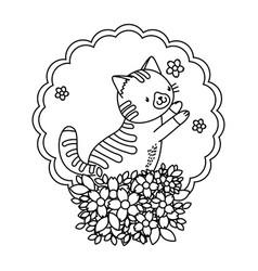 Cute pet animal cartoon vector
